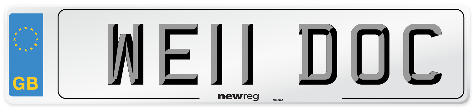 WE11 DOC Number Plate from New Reg