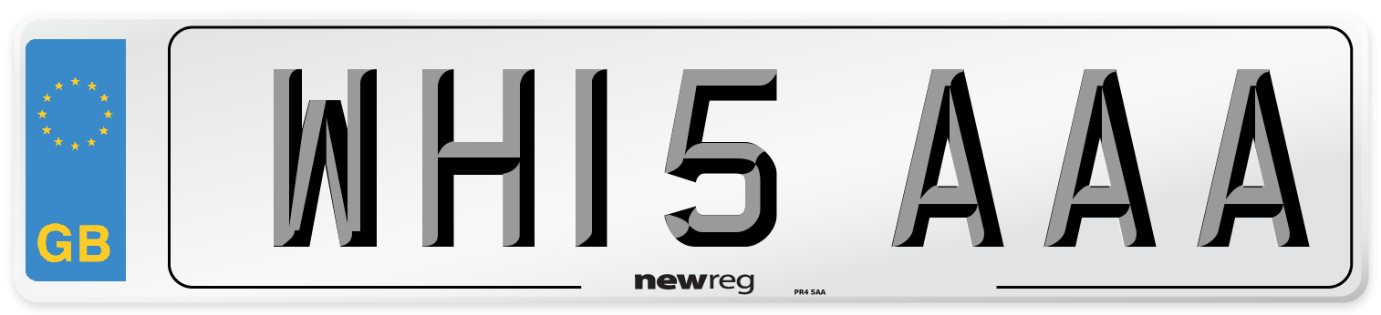 WH15 AAA Number Plate from New Reg