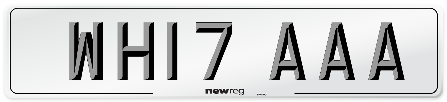 WH17 AAA Number Plate from New Reg