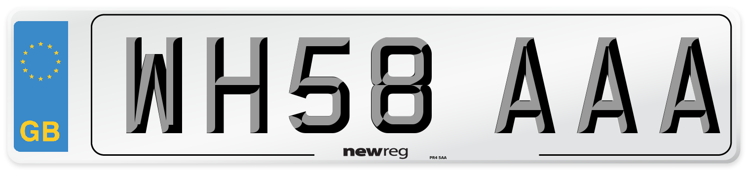 WH58 AAA Number Plate from New Reg