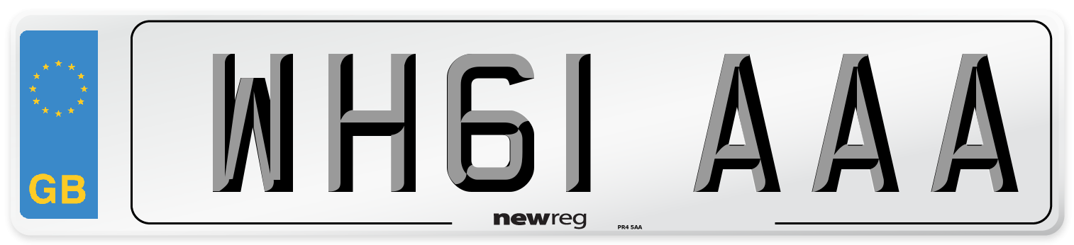 WH61 AAA Number Plate from New Reg
