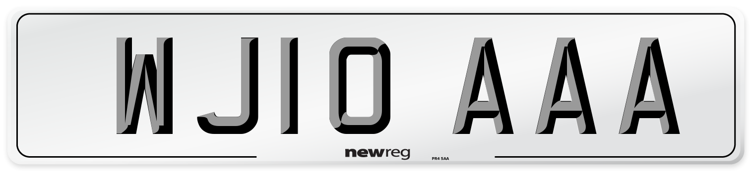 WJ10 AAA Number Plate from New Reg