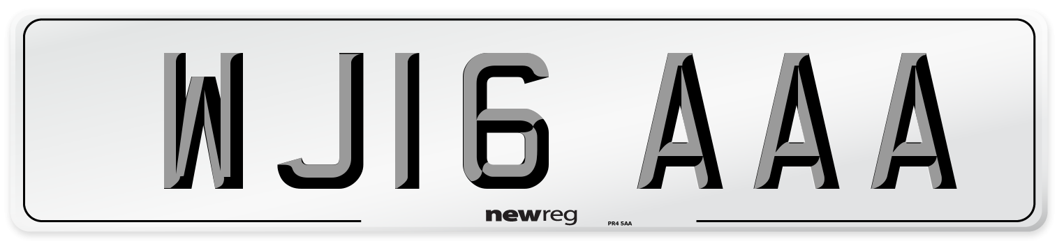 WJ16 AAA Number Plate from New Reg