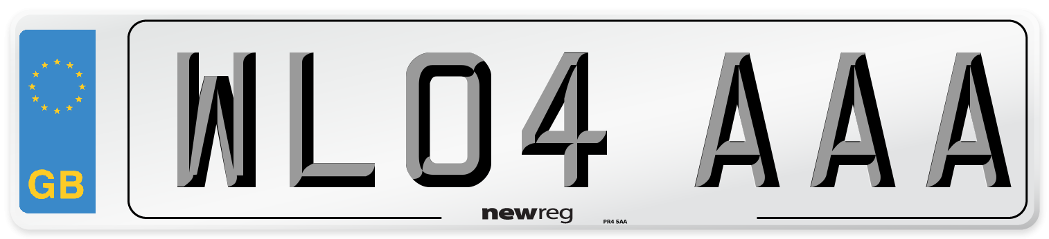 WL04 AAA Number Plate from New Reg