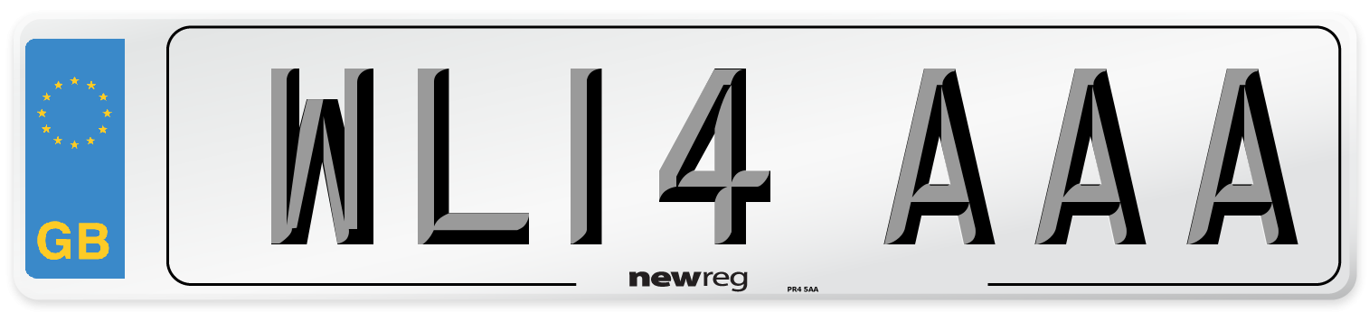 WL14 AAA Number Plate from New Reg