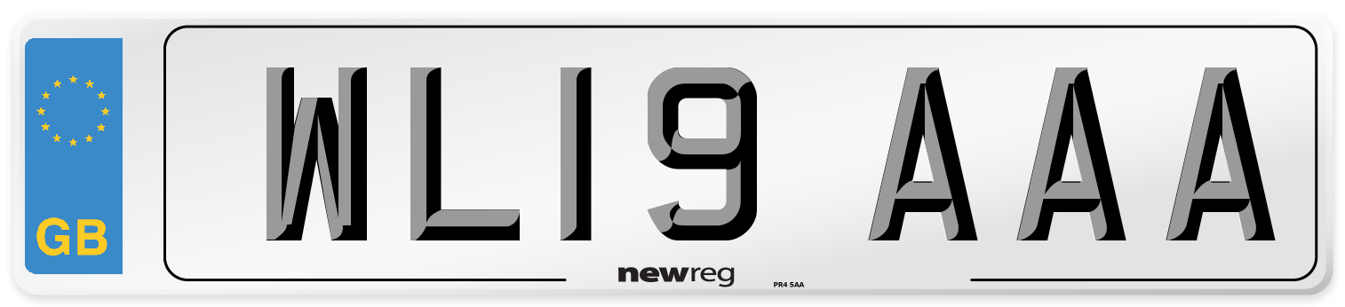 WL19 AAA Number Plate from New Reg