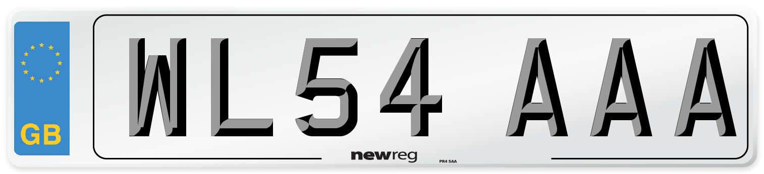 WL54 AAA Number Plate from New Reg