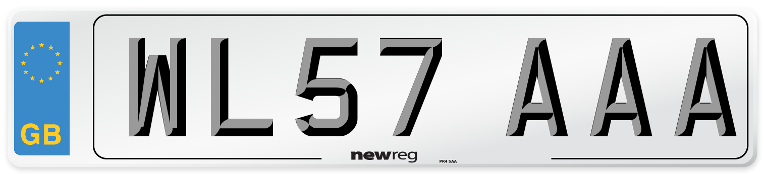 WL57 AAA Number Plate from New Reg