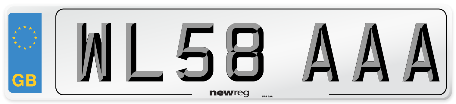 WL58 AAA Number Plate from New Reg