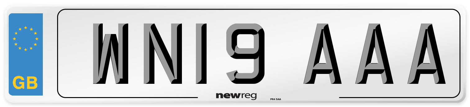 WN19 AAA Number Plate from New Reg