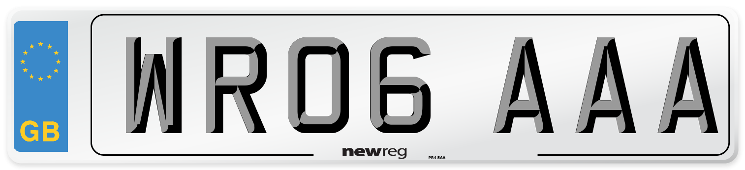 WR06 AAA Number Plate from New Reg