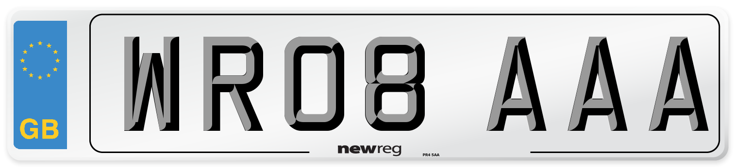WR08 AAA Number Plate from New Reg