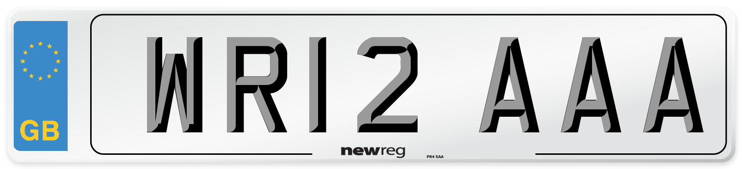 WR12 AAA Number Plate from New Reg