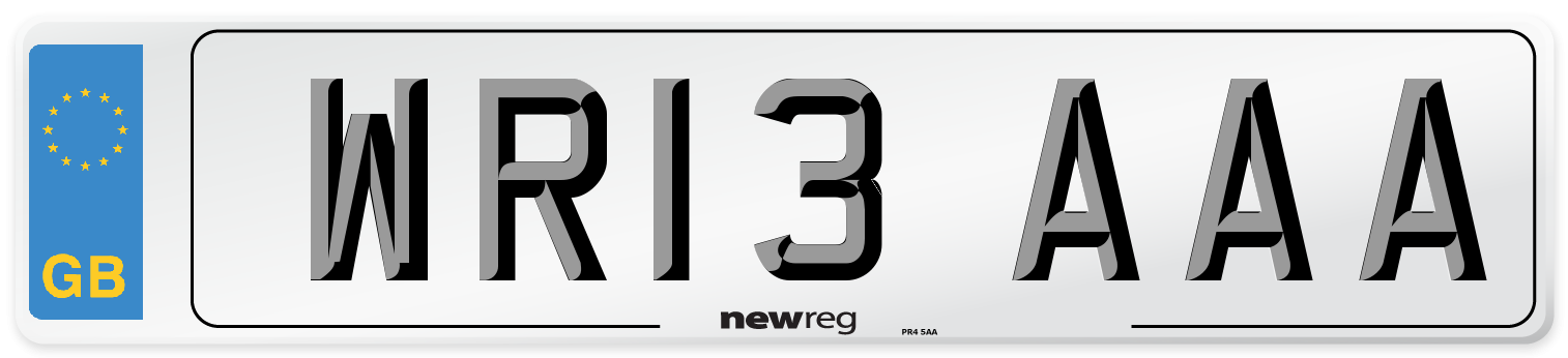 WR13 AAA Number Plate from New Reg