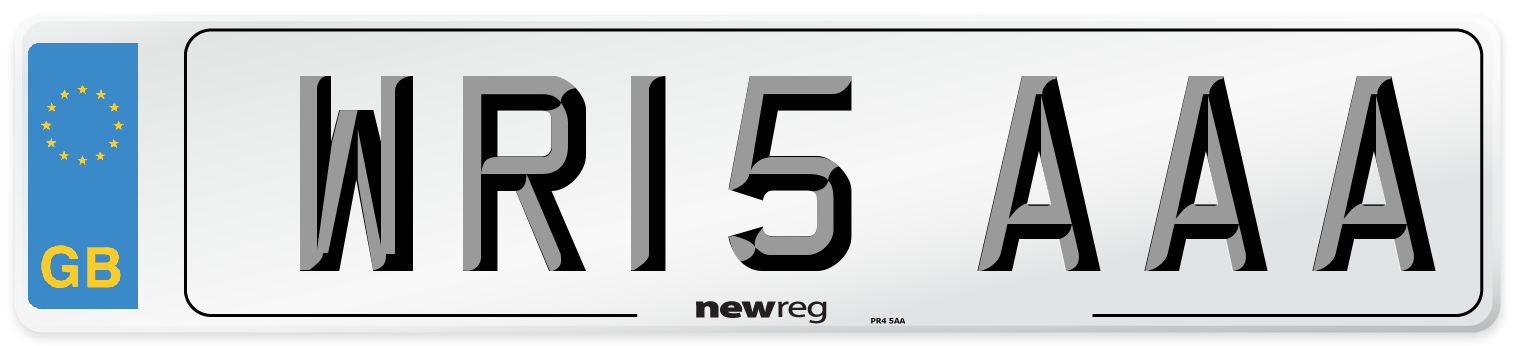 WR15 AAA Number Plate from New Reg