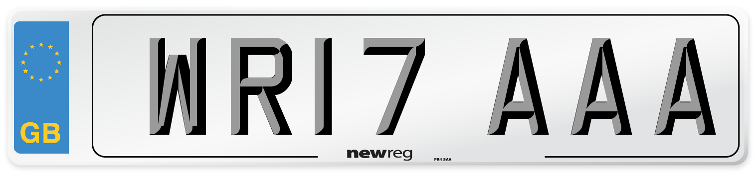 WR17 AAA Number Plate from New Reg