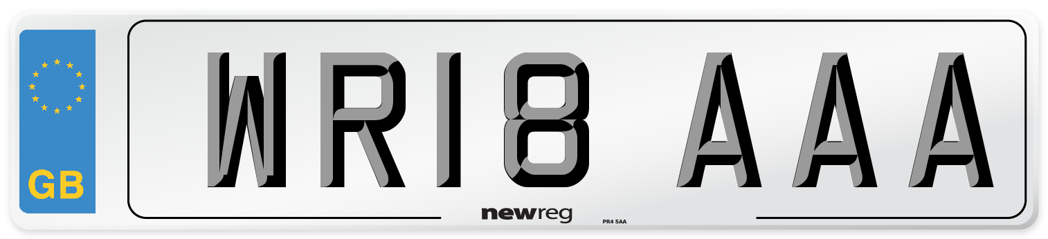 WR18 AAA Number Plate from New Reg