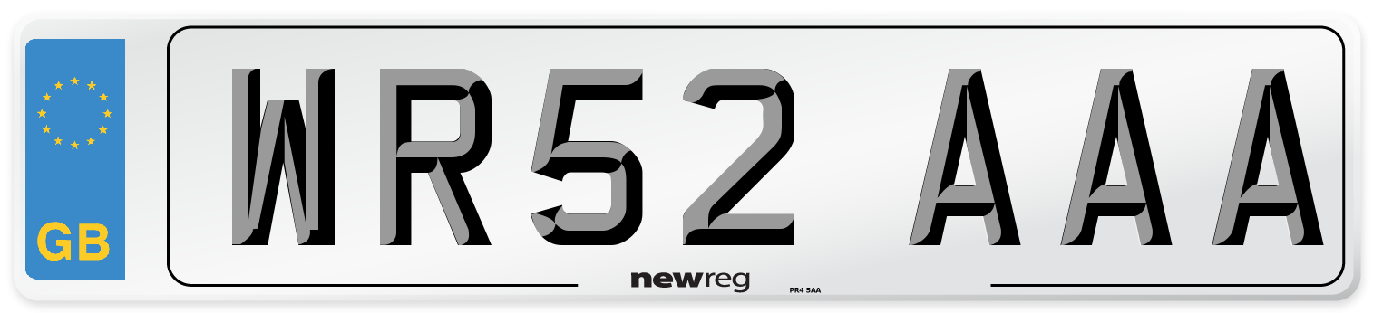 WR52 AAA Number Plate from New Reg