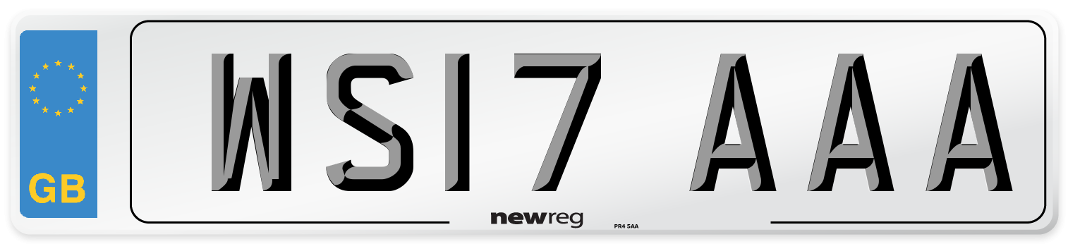 WS17 AAA Number Plate from New Reg