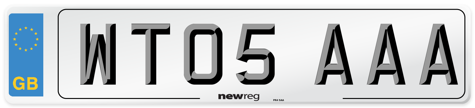 WT05 AAA Number Plate from New Reg