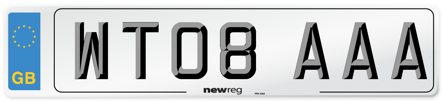 WT08 AAA Number Plate from New Reg