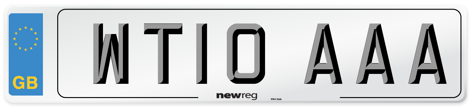 WT10 AAA Number Plate from New Reg