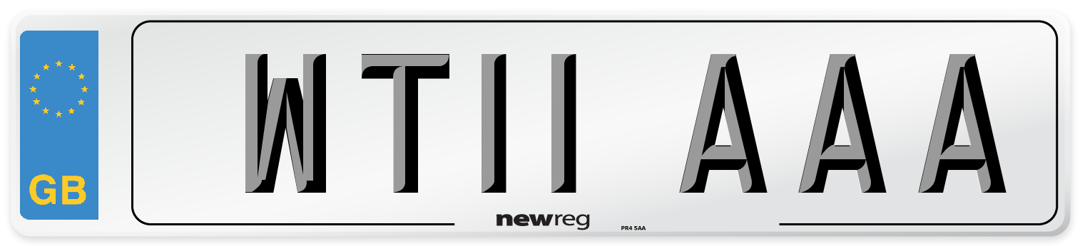 WT11 AAA Number Plate from New Reg