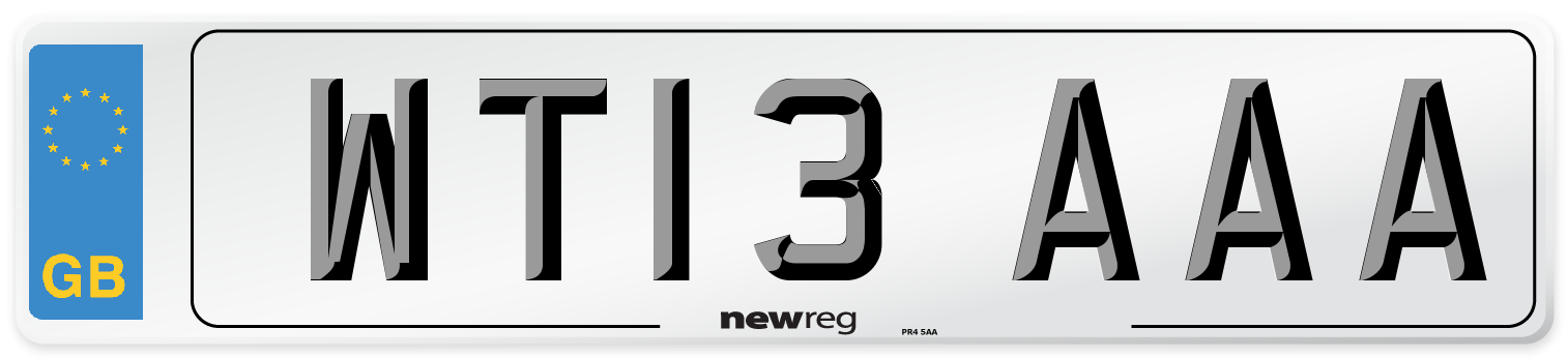 WT13 AAA Number Plate from New Reg