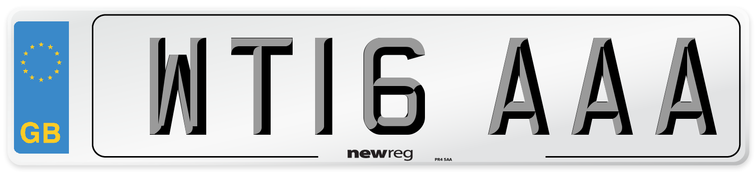 WT16 AAA Number Plate from New Reg