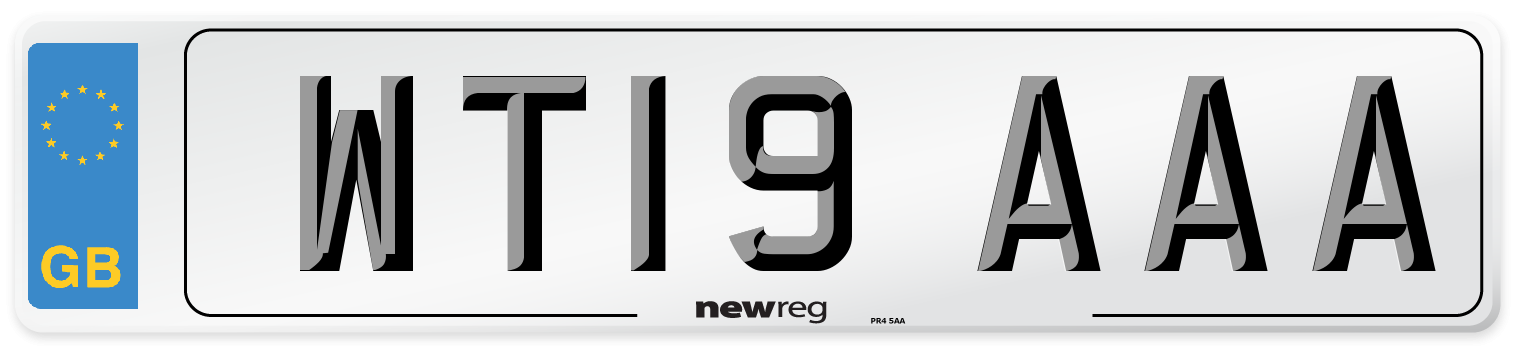 WT19 AAA Number Plate from New Reg