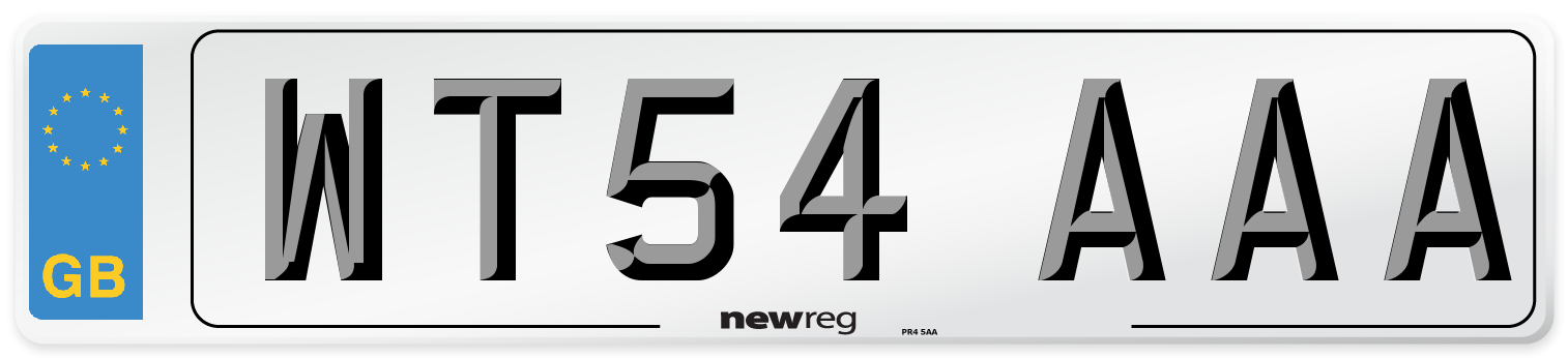 WT54 AAA Number Plate from New Reg