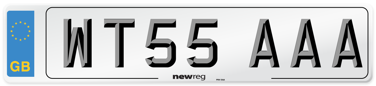 WT55 AAA Number Plate from New Reg