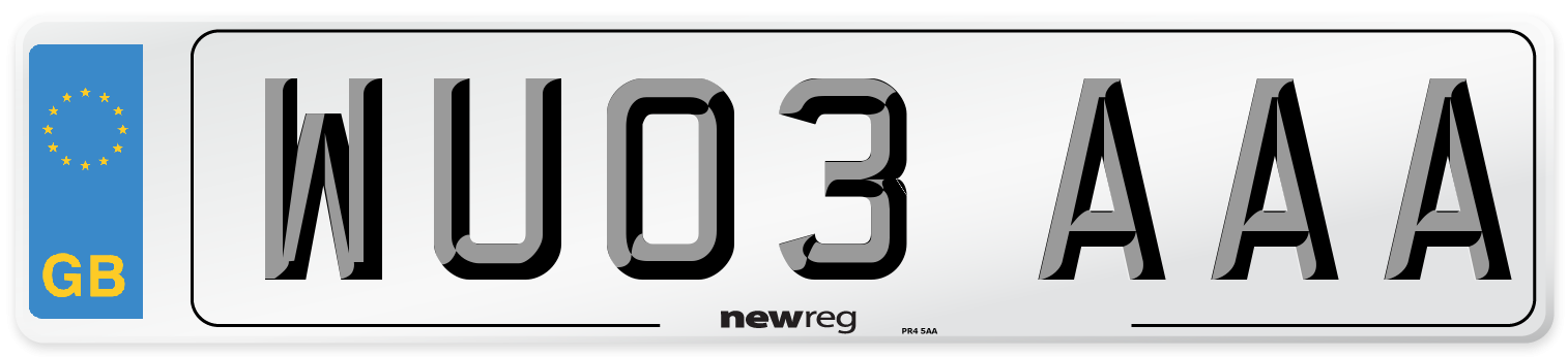 WU03 AAA Number Plate from New Reg