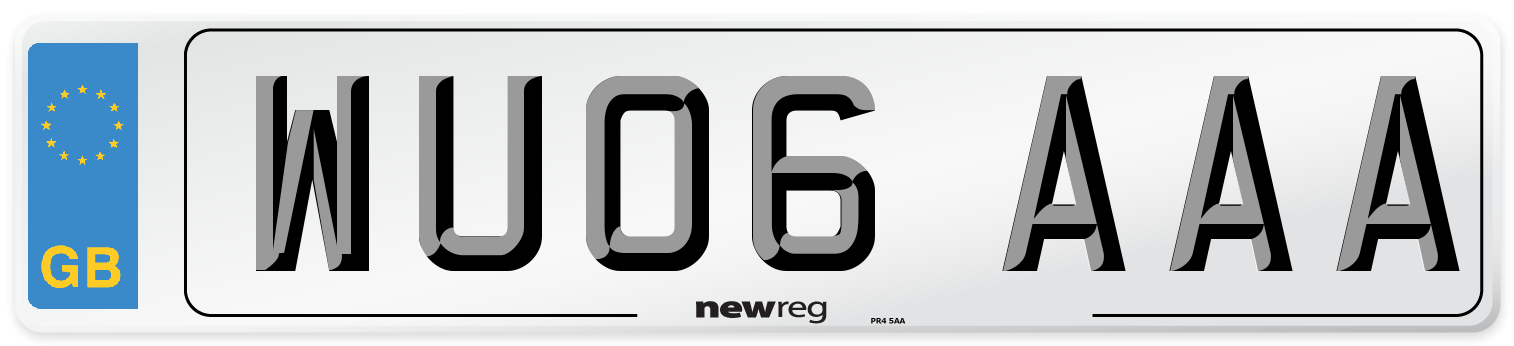 WU06 AAA Number Plate from New Reg