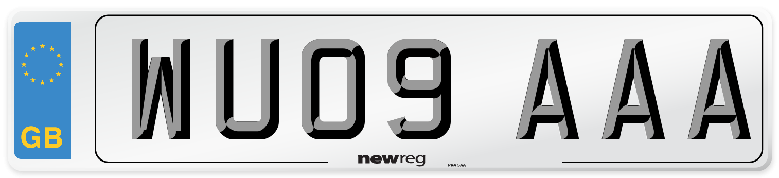 WU09 AAA Number Plate from New Reg