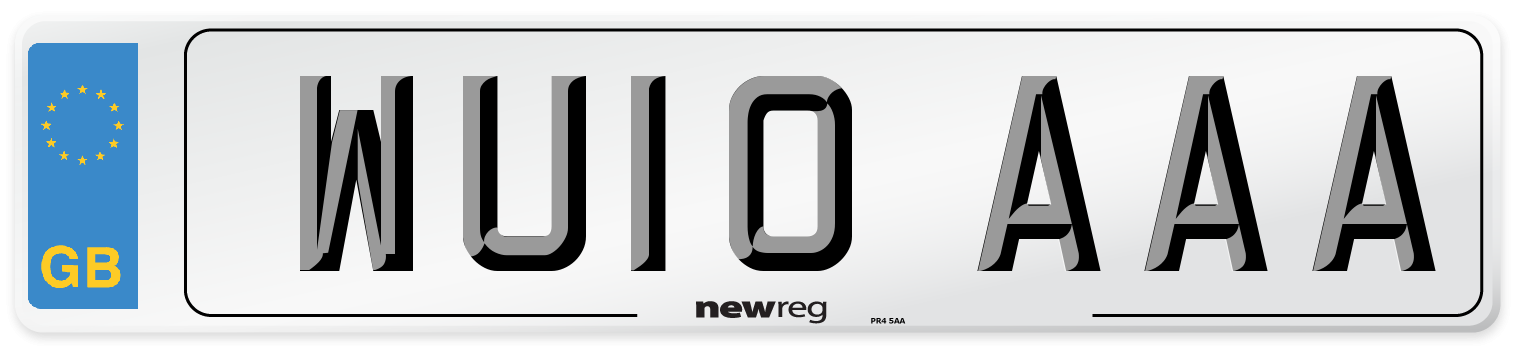WU10 AAA Number Plate from New Reg