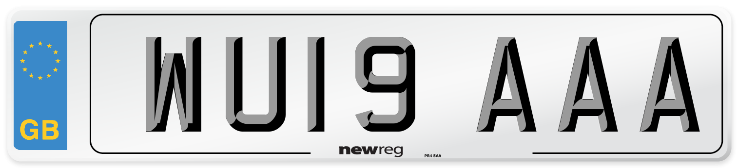 WU19 AAA Number Plate from New Reg