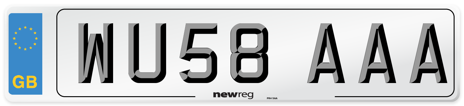 WU58 AAA Number Plate from New Reg