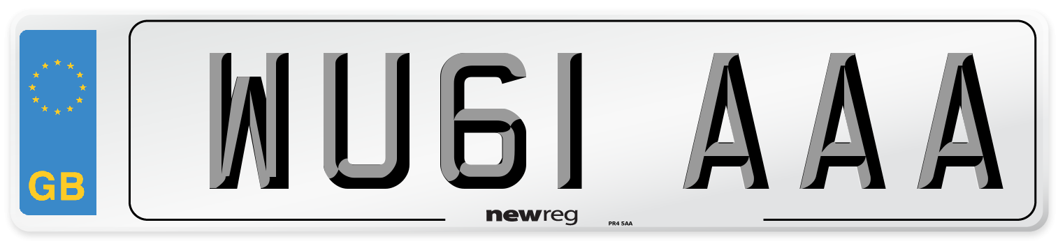 WU61 AAA Number Plate from New Reg