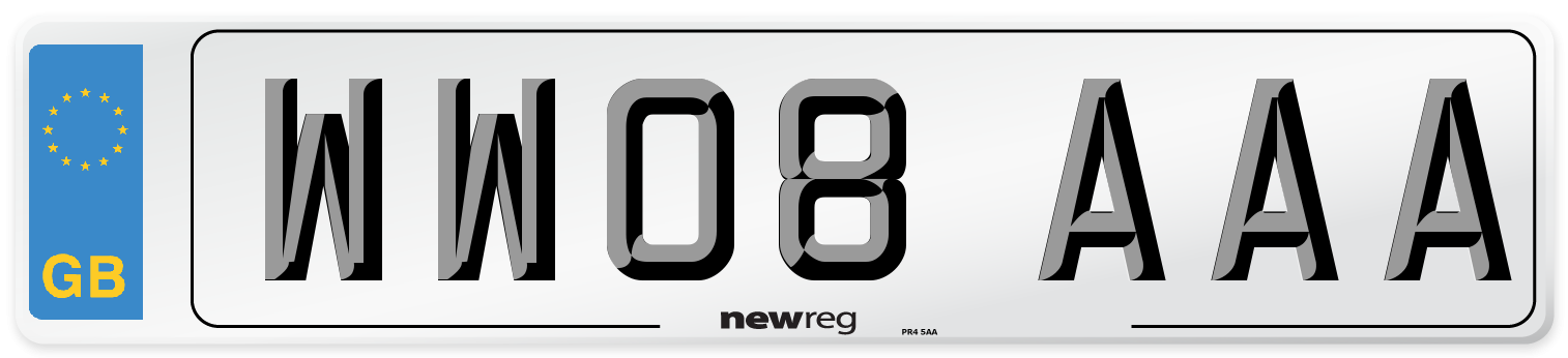 WW08 AAA Number Plate from New Reg