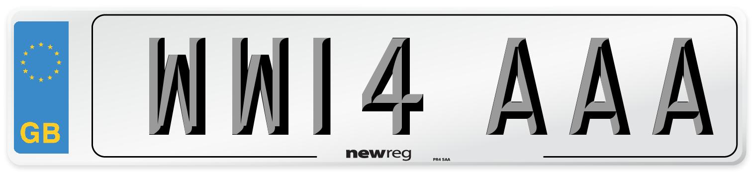 WW14 AAA Number Plate from New Reg