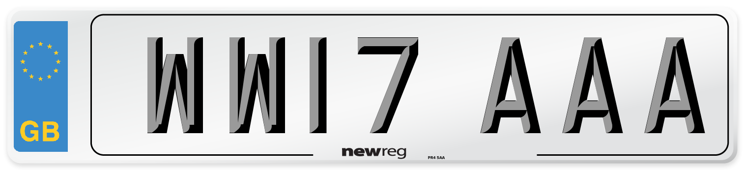 WW17 AAA Number Plate from New Reg
