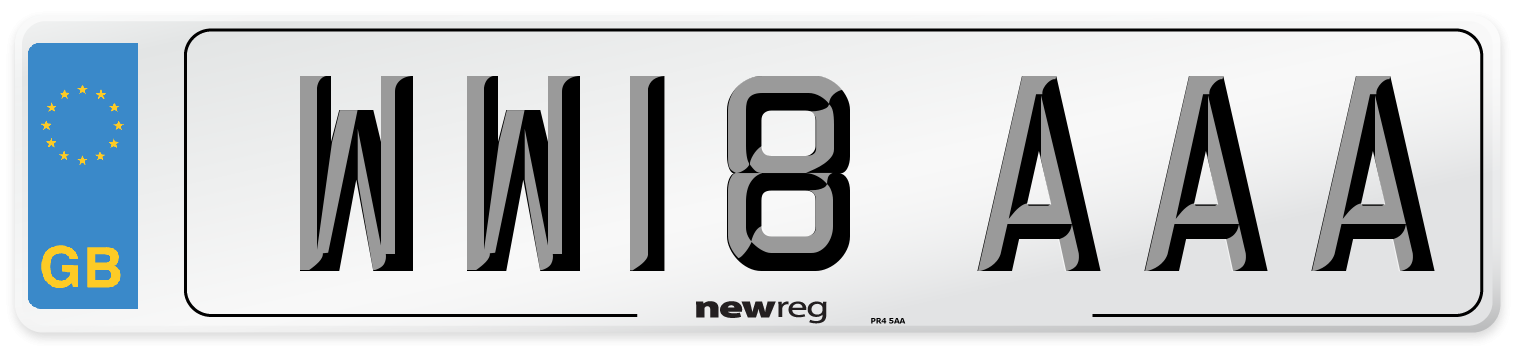 WW18 AAA Number Plate from New Reg