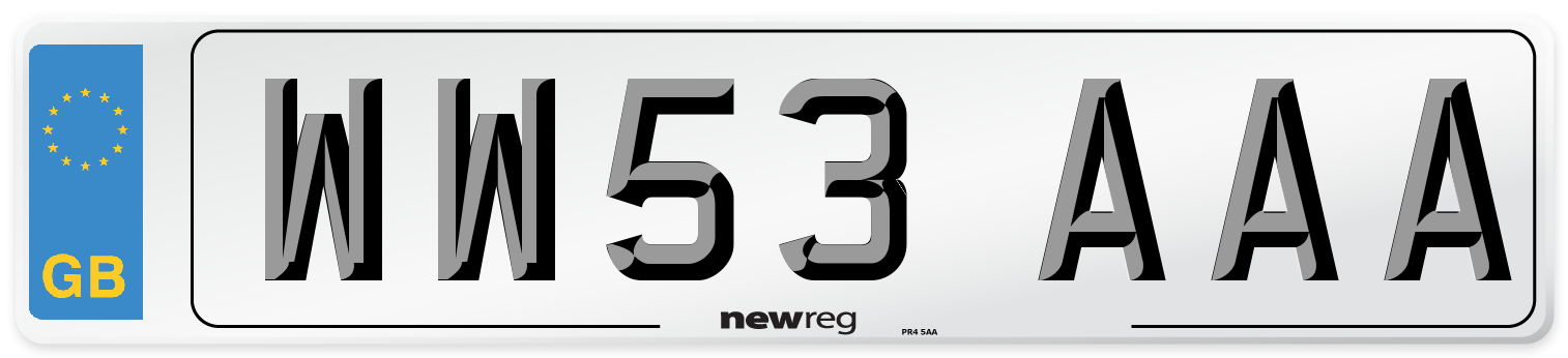 WW53 AAA Number Plate from New Reg