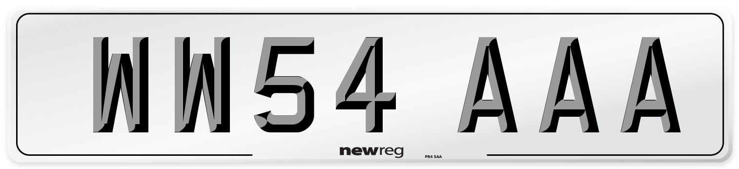 WW54 AAA Number Plate from New Reg