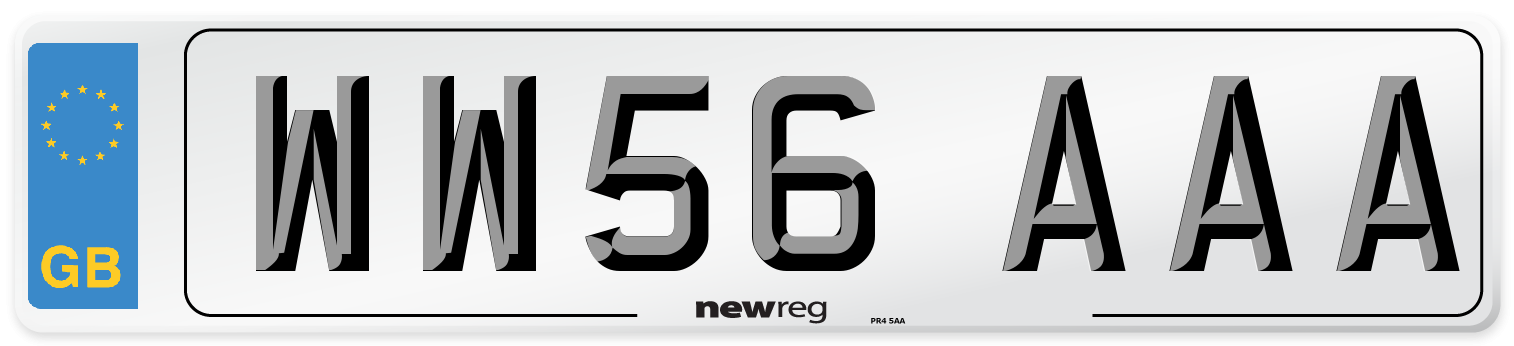WW56 AAA Number Plate from New Reg