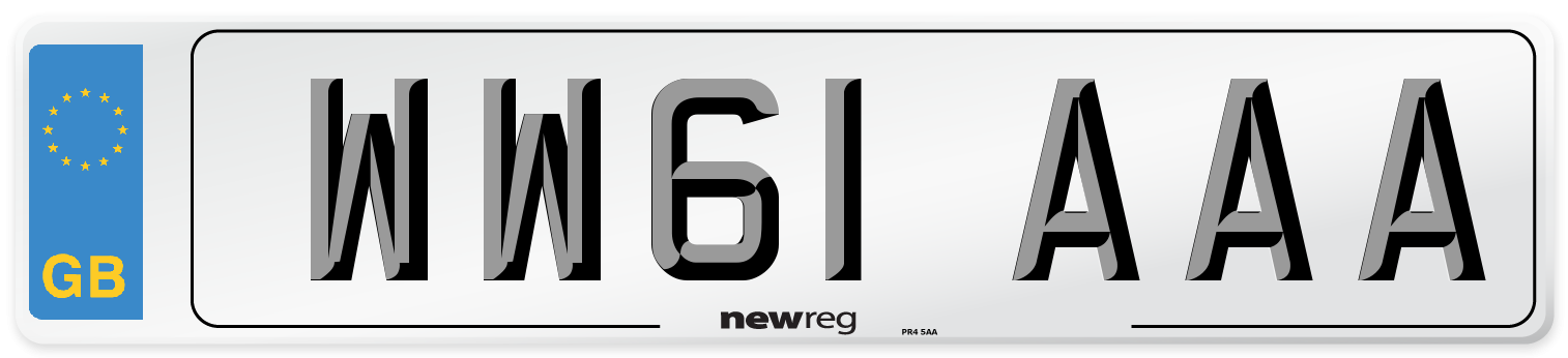 WW61 AAA Number Plate from New Reg