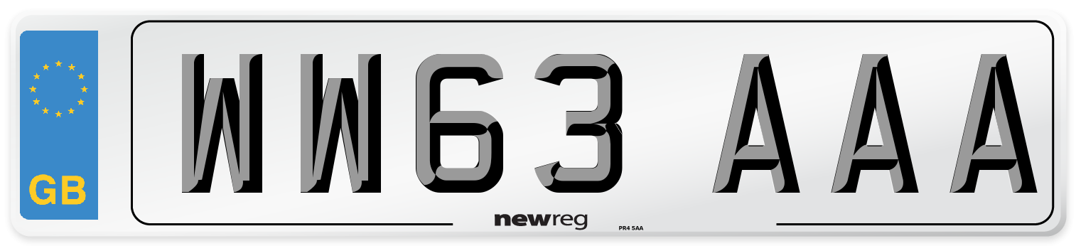 WW63 AAA Number Plate from New Reg