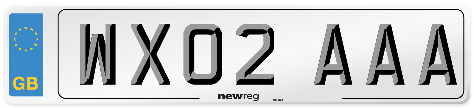 WX02 AAA Number Plate from New Reg