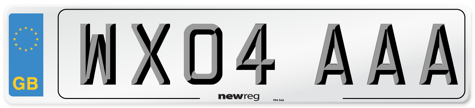WX04 AAA Number Plate from New Reg